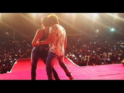 Khesari Lal Yadav  and Gloory Moohanta live performance at Ram Leela Maidan, Malad
