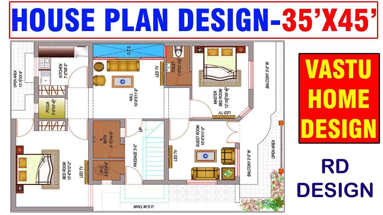 30 X 45 House Plans Vastu House Plan 30 X 45 House Plan 30x45 Rd Design Youtube