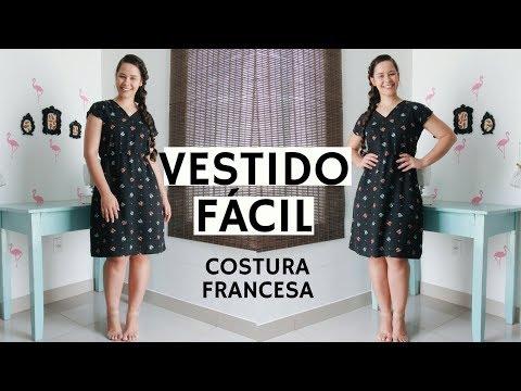 VESTIDO PARA INICIANTES COM COSTURA FRANCESA - ELLEN BORGES