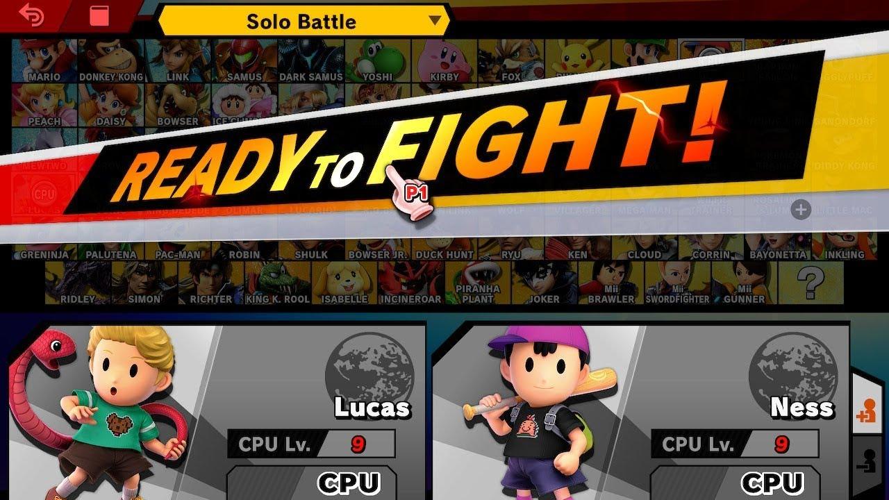 Rematch: LV 9 CPU Lucas VS Ness - Super Smash Bros. Ultimate