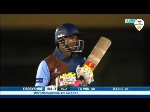 Shivnarine Chanderpaul   87* (70 balls) against Lancashire 2013