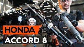 Kuinka vaihtaa etu joustintuet HONDA ACCORD 8 (CU2) -merkkiseen autoon [OHJEVIDEO AUTODOC]