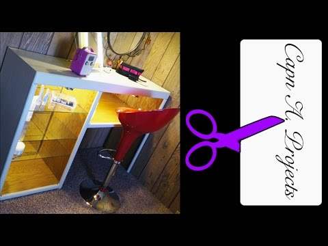 How To MAKE A Vanity Table Storage and Organizing Hair & Makeup