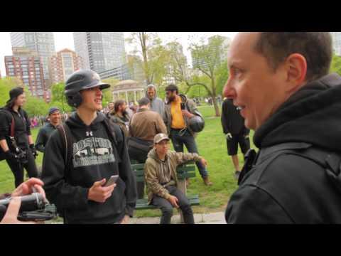 """Free Speech Rally"" vs ANTIFA Boston Common 5/13/17"