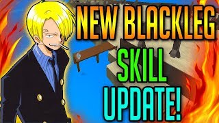 BLACK LEG NEW SKILL!? | One Piece Millenium | ROBLOX | BLACKLEG SHOWCASE