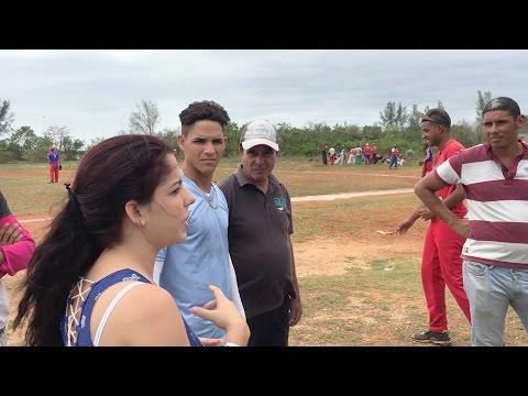 Local baseball tournament in Playa Larga, Cuba