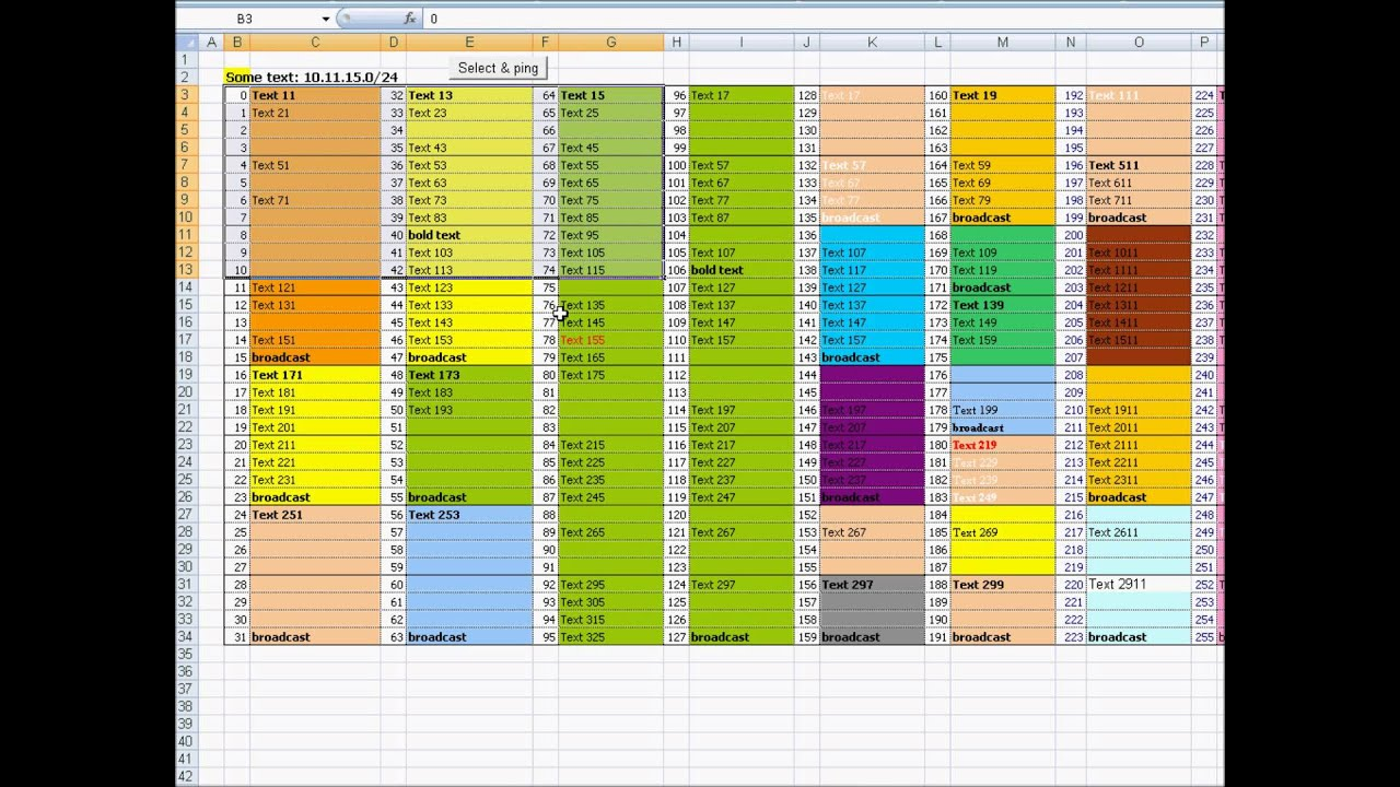 ms excel sheet