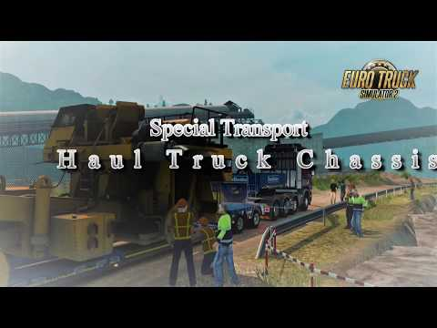 Euro Truck Simulator 2  -  Special Transport -  Stavanger  to  Oslo -  Haul Truck Chassis