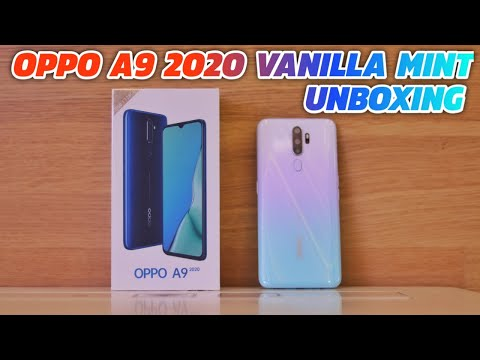 Oppo A9 2020 Unboxing Vanilla Mint Color