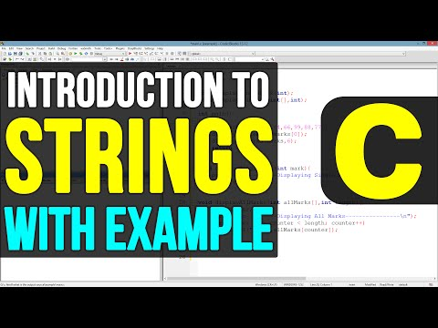 Strings or Character Arrays in C Programming Language Video Tutorials