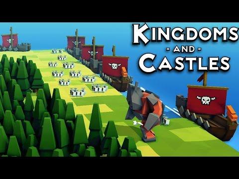 Kingdoms and Castles Huge Viking Invasion Fleet (Kingdoms and Castles Gameplay)
