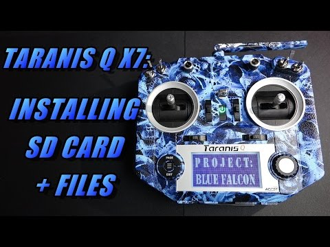 Taranis Q X7: Adding SD Card & Contents Files (for sounds and more)