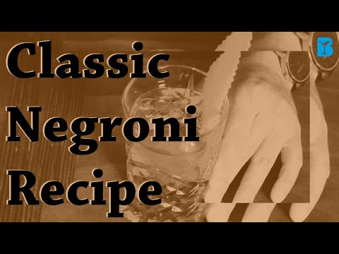 """How To Make The Perfect Negroni"""