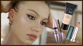 ONE BRAND MAKEUP TUTORIAL 💄 MAYBELLINE