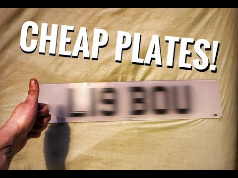 Where To Get Cheap Private Number Plates!!