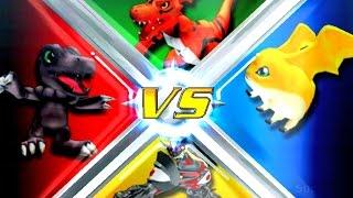 Blackagumon vs Patamon vs Guilmon vs Duskmon [Rumble Arena 2]