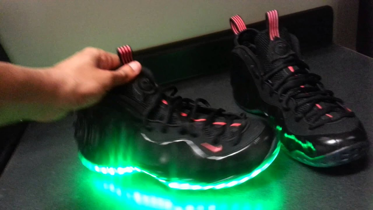 60dadebc41629 LED Yeezy Foamposites - YouTube