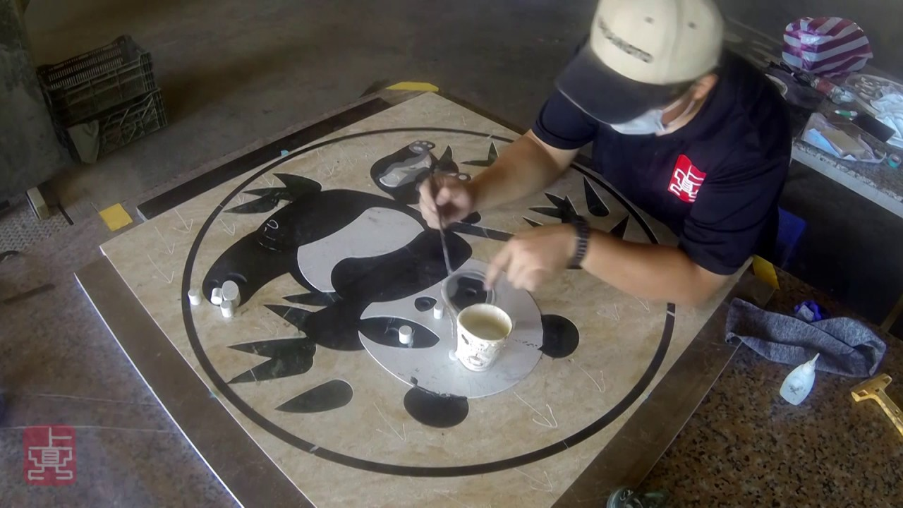 上鼎石材水刀加工程序 Shang Ding Marble Stone Water Jet Fabrication