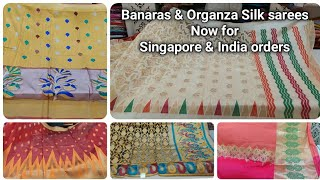 Banaras Silk sarees latest designs 2020/ Latest Organza silk sarees now in Singapore at whole price