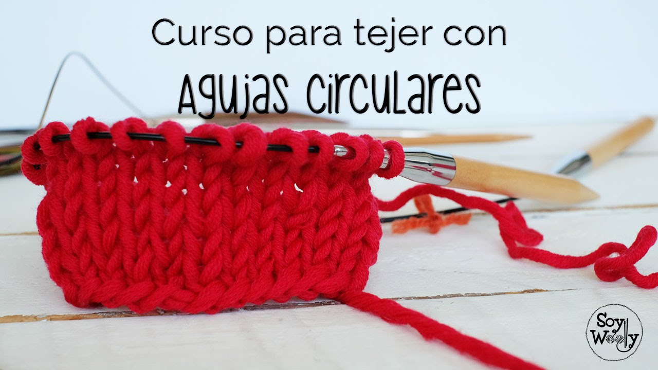 Tejer con AGUJAS CIRCULARES: MONTAR-PUNTO JERSEY CLASE 1 - YouTube