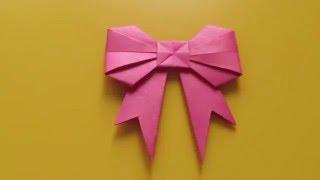 БАНТИК Легкое Новогоднее Оригами из Бумаги Своими Руками. Видео урок