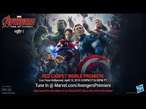 "Watch the red carpet of Marvel's ""Avengers: Age of Ultron"" on April 13!"