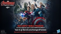 """Watch the red carpet of Marvel's """"Avengers: Age of Ultron"""" on April 13!"""