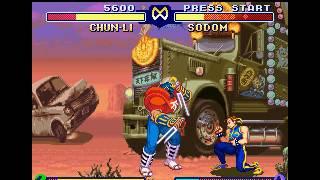 Street Fighter Zero 2 SNES Super Nintendo (Chun Li-Sodom) Level 1