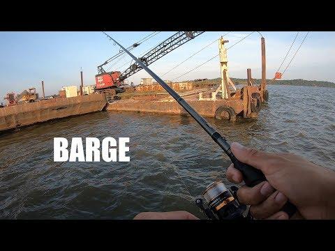 Fishing A Potomac River Barge