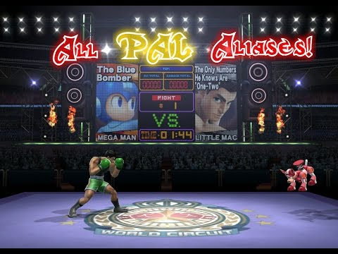 Super Smash Bros. Wii U: All PAL Versions of Character Aliases! (Boxing Ring Stage)