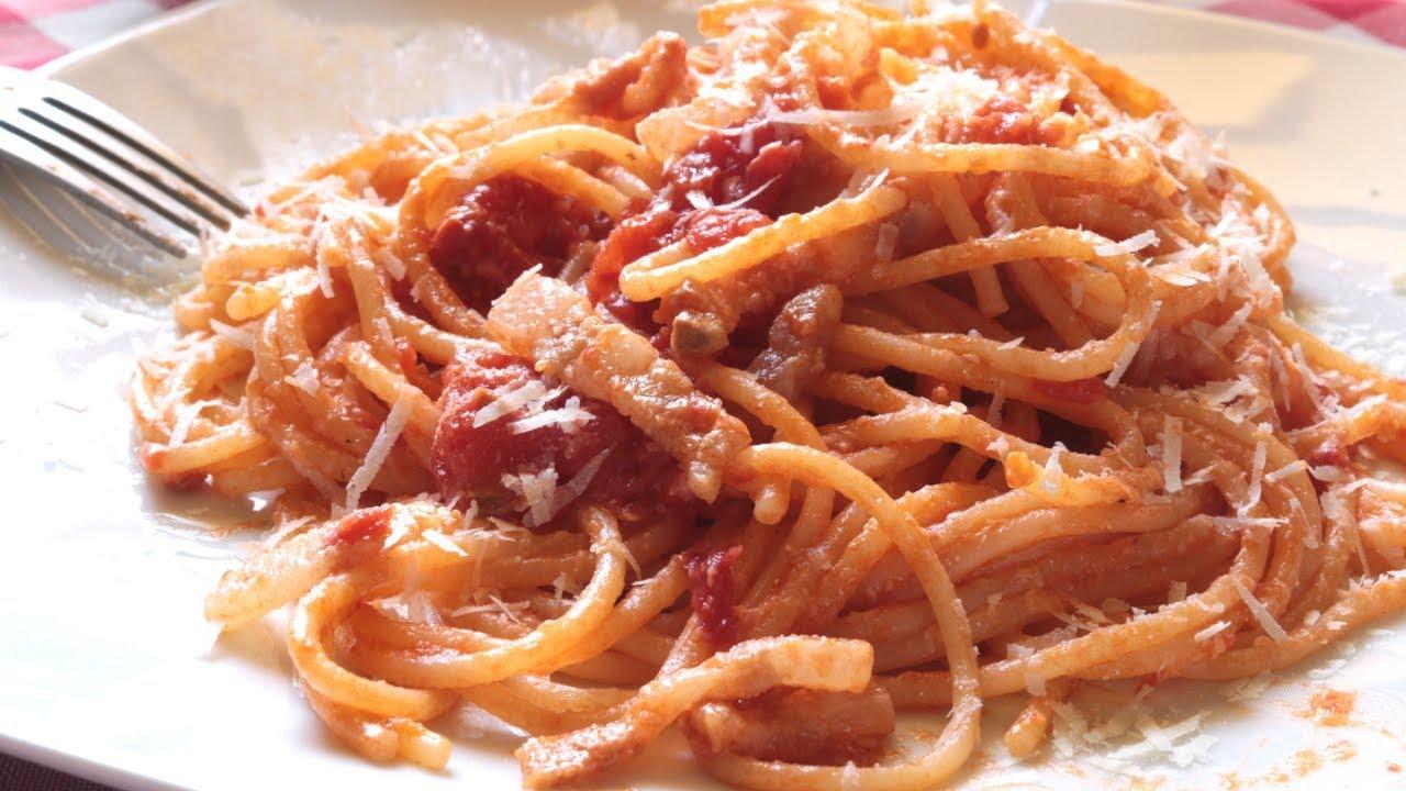 Ricetta Amatriciana Max.Amatriciana La Ricetta Originale Youtube