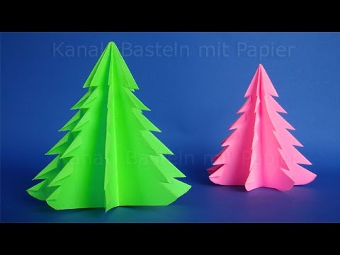 weihnachtsbasteln weihnachtsbaum falten diy weihnachtsdeko basteln weihnachten origami. Black Bedroom Furniture Sets. Home Design Ideas