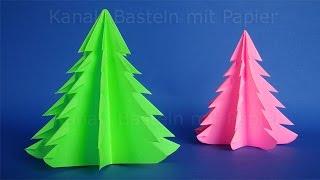 Weihnachtsbasteln: Weihnachtsbaum falten - DIY Weihnachtsdeko basteln - Weihnachten Origami