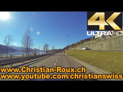 UHD/4K - Switzerland 278 (Camera on board): Zürichsee from Kanton St.Gallen to Zürich (GoPro Hero3)