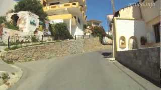 Driving to upper village of Platanias