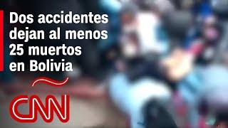 Accidentes mortales en Bolivia: autobús se volcó en Cochabamba y estudiantes sufren caída en El Alto