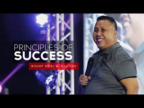 Principles Of Success By Bishop Oriel M. Ballano