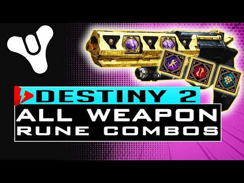 Destiny 2 HOW TO GET ALL MENAGERIE WEAPONS - All Rune Combinations Guide