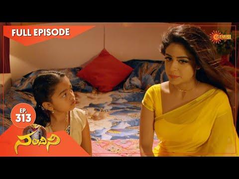 Nandhini - Episode 313   Digital Re-release   Gemini TV Serial   Telugu Serial