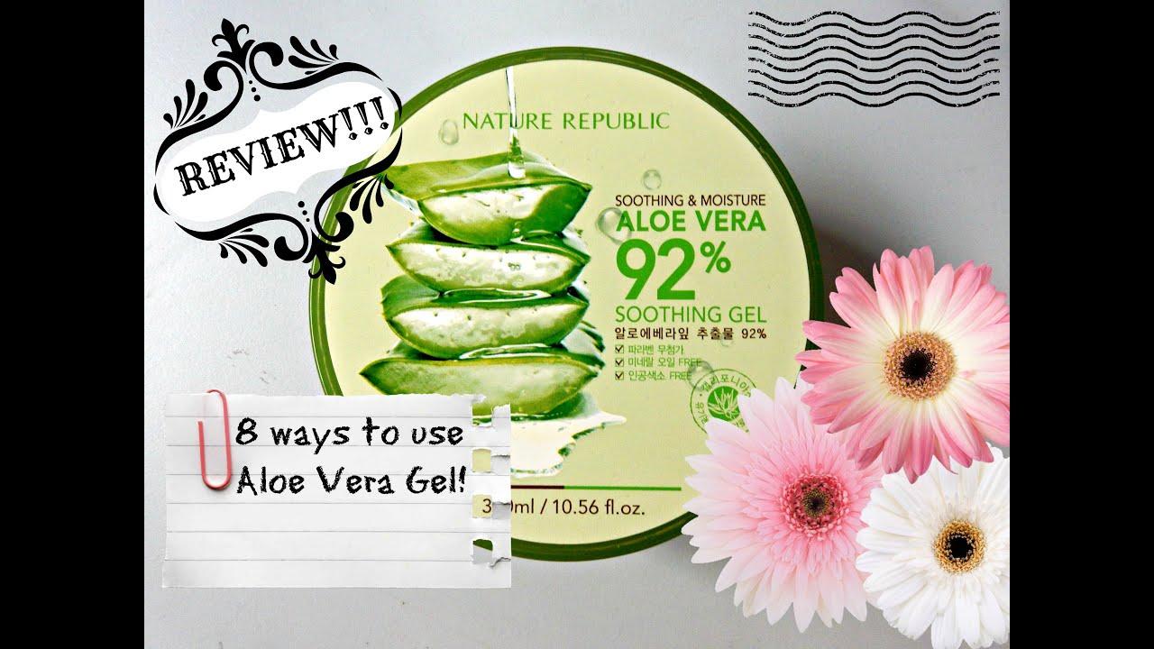 Nature Republic Aloe Vera Gel Review 8 Ways To Use It Youtube Nr Shoothing Republik 300ml