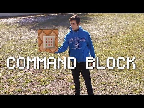 CRAZY REAL LIFE MINECRAFT COMMAND BLOCK!