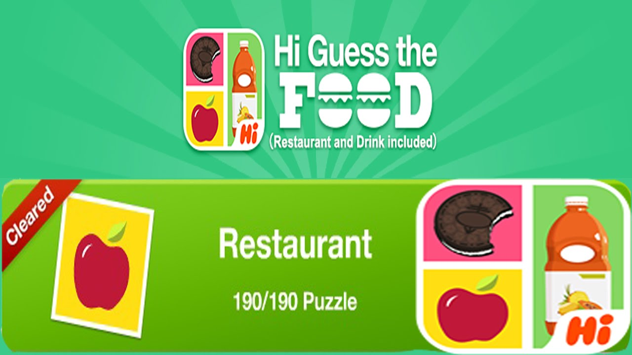 Hi Guess The Food Restaurant Answers
