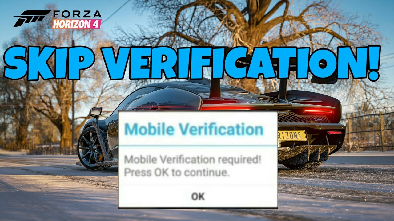 Forza horizon 4 android skip mobile verification ||with