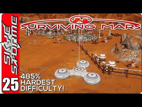 Surviving Mars Gameplay Ep 25 ►THE SPACE ELEVATOR!◀  485% HARDEST DIFFICULTY PLAYTHROUGH