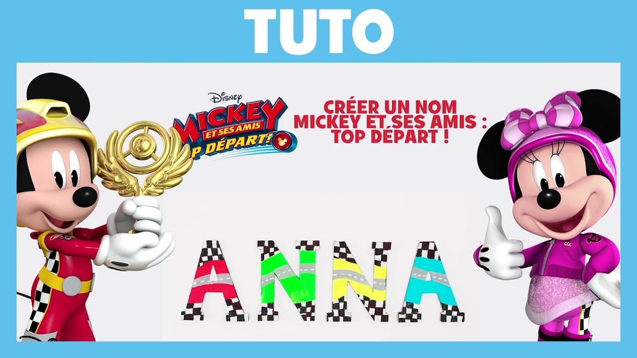 Mickey et ses amis top d part tuto cr er un nom - Amis de mickey ...