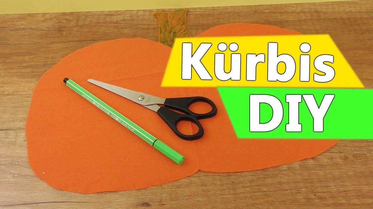 Kurbis Diy Idee Herbst Halloween Deko Basteln Diy Kids Party Idee Youtube