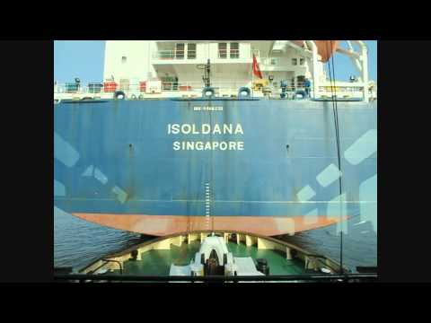Isoldana Entering Antwerp Harbor