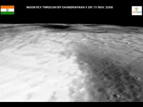 Chandrayaan-1 India - Second Moon Flyby Video From ISRO