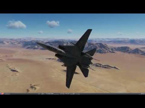 DCS World - F14B Tomcat Flat spin Recovery