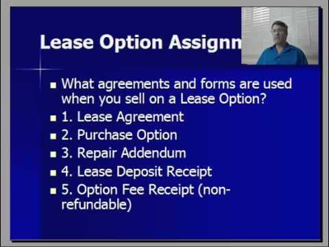 Lease Option Assignments - how they compare with Wholesaling, Retailing - Rehabbing, and Sub2